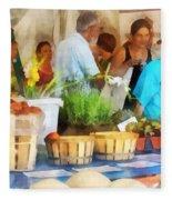 At The Farmer's Market Fleece Blanket