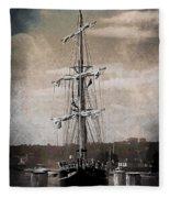 At The Harbor Fleece Blanket
