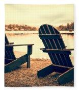At The Lake Fleece Blanket
