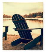 At The Lake Square Format Fleece Blanket