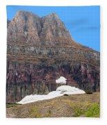 At The Top Of Logan's Pass Fleece Blanket