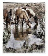At The Watering Hole 1 Fleece Blanket