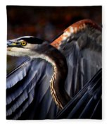 At Waters Edge - Great Blue Fleece Blanket