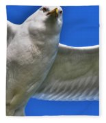 At Your Disposal The Waiting Gull Fleece Blanket