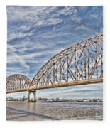 Atchafalaya River Bridge Fleece Blanket