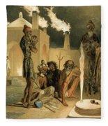 Ateseh-gah, Indians Devoted To The Cult Fleece Blanket