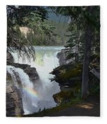 Athabasca Falls 2 Fleece Blanket