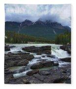 Athabasca Falls #3 Fleece Blanket