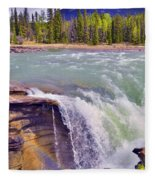 Athabasca Falls Fleece Blanket