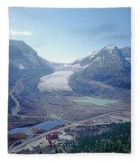 1m3735-athabasca Glacier Fleece Blanket