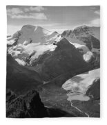 T-303504-bw-athabasca Glacier In 1957  Fleece Blanket