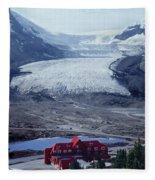 1m3734-athabasca Glacier W Original Icefields Chalet Fleece Blanket