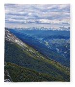 Athabasca River Valley - Jasper Fleece Blanket