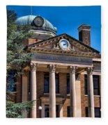 Athens Alabama Historical Courthouse Fleece Blanket