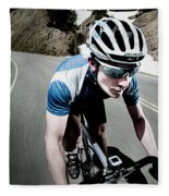 Athletic Male High Speed Cycling Fleece Blanket