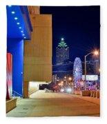 Atlanta Outside Cnn Fleece Blanket
