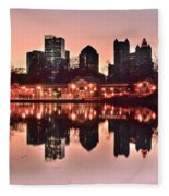 Atlanta Piedmont Pink Fleece Blanket