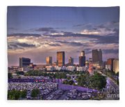 Atlanta Sunset Fulton County Stadium Braves Game  Fleece Blanket