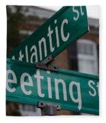 Atlantic And Meeting St Fleece Blanket