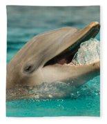 Atlantic Bottlenose Dolphin Fleece Blanket