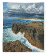 Atlantic Breakers Pontal Portugal Fleece Blanket