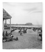 Atlantic City Beach, C1900 Fleece Blanket