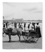 Atlantic City Beach, C1901 Fleece Blanket