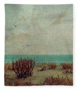 Atlantic City Seagull Fleece Blanket