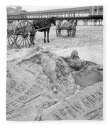 Atlantic City The Sandman Fleece Blanket