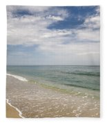 Atlantic Ocean Beach V Fleece Blanket