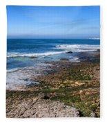 Atlantic Ocean Shore In Estoril Fleece Blanket