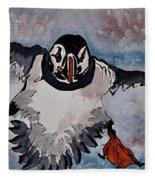 Atlantic Puffin - Set 2 Of 3 Fleece Blanket