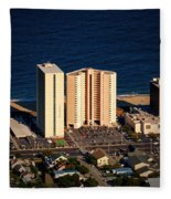 Atlantis Condominium Ocean City Md Fleece Blanket
