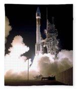 Atlas 2as Rocket Launch Fleece Blanket