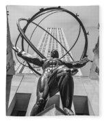 Atlas Statue Rockefeller Center Fleece Blanket