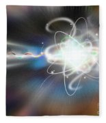 Atom Collision Fleece Blanket