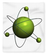 Atom Structure Fleece Blanket