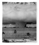 Atomic Bomb Test Fleece Blanket
