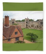 Atop The Castle Wall Fleece Blanket
