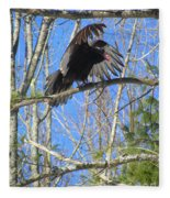 Attack Of The Turkey Vulture Fleece Blanket