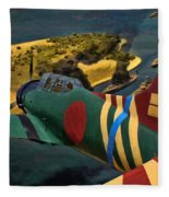 Attack On Battleship Row Fleece Blanket