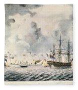 Attack On Fort Mifflin, 1777 Fleece Blanket