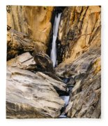 Attagar Falls In Western Ghats Fleece Blanket