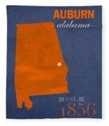 Auburn University Tigers Auburn Alabama College Town State Map Poster Series No 016 Fleece Blanket