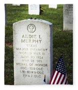 Audie Murphy - Most Decorated Fleece Blanket