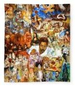 Audience With The Geniuses Of Art Fleece Blanket