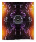 Audio Purple Orange Fleece Blanket