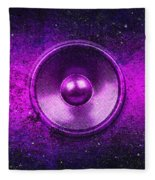 Audio Purple Fleece Blanket
