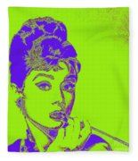 Audrey Hepburn 20130330v2p38 Square Fleece Blanket