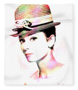 Audrey Hepburn 6 Fleece Blanket